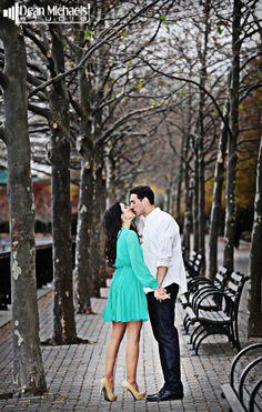Nicole & Matthew's November 2013 #engagement shoot at Rutgers University and Hoboken! (photo by deanmichaelstudio.com) #njengagement #njengagements #engaged #love #kiss #ring #fall #photography #deanmichaelstudio