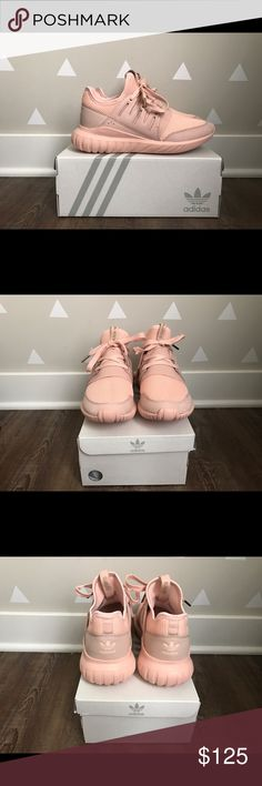 Adidas Tubular Radial Originals Never worn blush pink tubular radial's Adidas Shoes Athletic Shoes