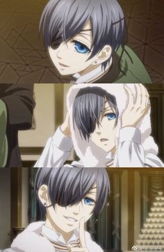 Dammit Ciel why aren't you real? I wish he was my classmate, I'd have done anything to make him my BF. Or I wish was an anime character. Ciel Anime, Anime Manga, Anime Art, Black Butler Ciel, Black Butler Kuroshitsuji, Ciel Phantomhive, Black Butler Wallpaper, Magical Warfare, Sebaciel