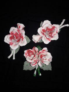 Hand Painted Capodimonte Fine Porcelain Blush Roses