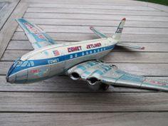 seltenes-riesiges-Flugzeug-YONE-YONEZAWA-JAPAN-40-cm-x-47-cm-COMET-JETLINER