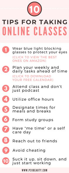 10 Super Helpful Tips for Taking Online Classes and Staying Motivated College Life Hacks, Senior Year Of High School, Life Hacks For School, School Study Tips, Back To School Hacks, College Tips, School Stuff, Online School Supplies, Online College Classes