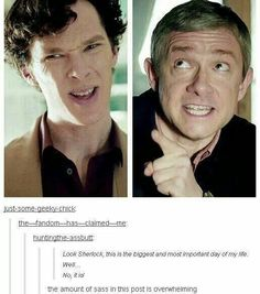 No John you and I both know the most important day was when you met Sherlock Sherlock Bbc, Sherlock Fandom, Benedict Cumberbatch Sherlock, Sherlock Quotes, Sherlock Bored, Mrs Hudson, Sherlolly, 221b Baker Street, John Watson