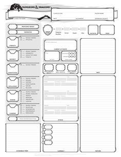 Alternative Character Sheets