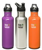 The Klean Kanteen 27oz Classic was the first size ever made. It was cobbled together from things we bought at the local hardware store here in Chico, California. With some fine-tuning that prototype became the 27oz Klean Kanteen Classic, the first stainless steel water bottle designed for personal use.