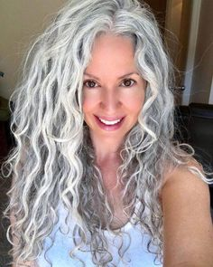23 New Feed In Braids for 2019 - 5 & 6 Strands - Style My Hairs Curly Silver Hair, Silver White Hair, Grey Hair Over 50, Long Gray Hair, Grey Hair Natural, Grey Hair Transformation, Gray Hair Highlights, Caramel Highlights, Burgundy Hair