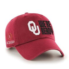 sports shoes 55580 f547e Oklahoma Sooners 47 Brand 2018 College Football Playoff We re Ready Adj Hat  Cap