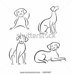 stock vector : Dog design set