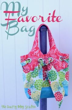 My Favorite Bag Pattern from Kati Cupcake sews up a cute and functional bag. The sisters and I had a fun sew day and this is what I made.