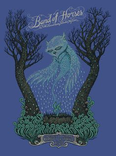 "Marq Spusta's ""Band of Horses"" poster."