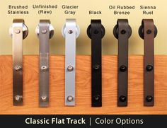 Sliding Barn Door Hardware - Stainless Steel, Oil Rubbed Bronze, and Black finishes  http://www.realcarriagedoors.com