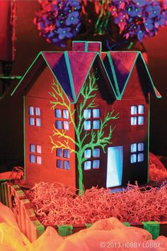 Use glow-in-the-dark paint to craft an array of Halloween décor, everything from ghostly treats to spooky pumpkins to boo-tiful place settings.