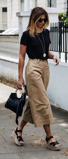 Culottes are what I like the Most for Work || #WorkOutfits #BusinessAttires | Business Casual For Women || Casual Work Outfits || Business Attires for Women || Casual Business Outfits || Summer Work Outfits || Spring Work Outfits || Work Outfits to wear to office #womenshoesforworkoffices