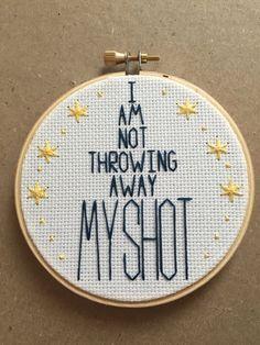 My Shot Hamilton Lin-Manuel Miranda Embroidery