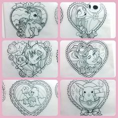 """Couple o' 90s nostalgia pieces I'd love to tattoo flat rate $300 each. A little over palm size. I'll only be tattooing each design once. Get in…"""