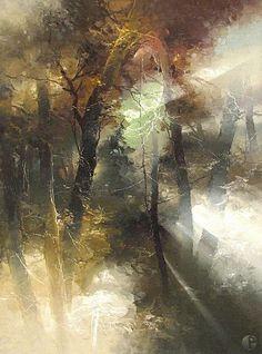 The artist Petras Lukosius. Eleven LESONA light. Hudozhnik-Petras-Lukosius.-Lesonoy-svet-odinadtsatyiy