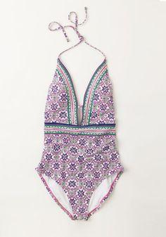 Back to the Bungalow One-Piece Swimsuit | Mod Retro Vintage Bathing Suits | ModCloth.com