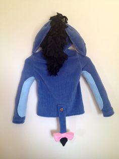 Disney Winnie the Pooh inspired Eeyore fleece hoodie shirt