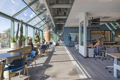 Corgan collaborated with Specht Architects to design Indeed's sales team offices located in Scottsdale, Arizona. After Indeed's Scottsdale office had Arizona Resorts, Open Office Design, Office Team, Meditation Rooms, Office Floor, Large Windows, Design Consultant, Skylight, Architecture