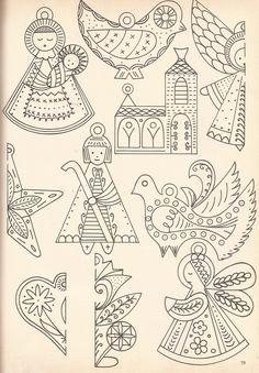 Molde vintage de bordado com tema natalino #natal