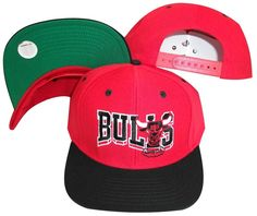 3c9263472ed Chicago Bulls Wave Red Black Two Tone Plastic Snapback Adjustable Plastic  Snap Back Hat   Cap