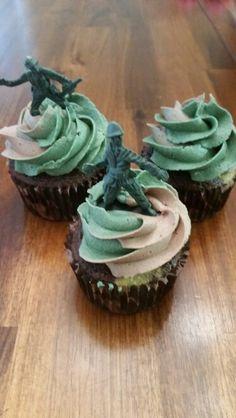 Camouflage Cupcakes Tutorial Camouflage cupcakes Boy birthday