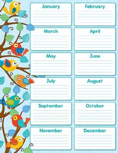 Carson Dellosa Boho Birds Birthday Chart Easy to read and personalize Perfect addition to any classroom Look for coordinating products in the Boho Birds design to create an exciting classroom theme Includes one chart measuring x Classroom Decor Themes, Classroom Posters, School Decorations, Classroom Displays, Birthday Chart Classroom, Birthday Charts, Classroom Door, Birthday Calender, Student Birthdays