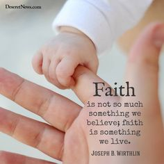 """""""Faith is not so much something we believe; faith is something we live."""" From his Oct. 2002 http://facebook.com/223271487682878 message http://lds.org/general-conference/2002/10/shall-he-find-faith-on-the-earth #LDSconf; #ShareGoodness"""