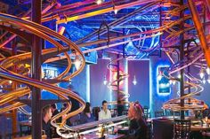 Ten More of the Worlds Weirdest Restaurants You Will Want to Visit Restaurant Lounge, Giger Bar, Waterproof Tarp, Bomb Shelter, Islands In The Pacific, Air Raid, Wooden Stairs, Roller Coaster