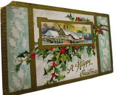 1909 Charming Edwardian Christmas Postcard by StructureandSpice