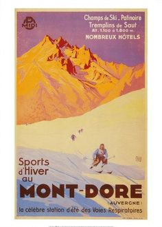 France, Le Mont-Dore - vintage travel ads