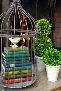 12 Gorgeous Diy Decor Ideas Using Birdcages ., The bird cage is equally a house for the chickens and an attractive tool. You can pick what you may need one of the bird cage types and get a whole lot more particular images. Decoration Shabby, Decoration Vitrine, Wall Decorations, Bird Cage Decoration, Bird Cage Centerpiece, Decoration Design, French Decor, French Country Decorating, Vibeke Design