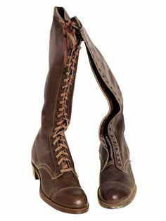 5951ec0d2215 Antique Boys Hunkidori Tall Lace Up Leather Boots 1900 Size 1