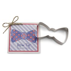 Bow Tie Cookie Cutter @KYrestaurantsupply Derby - Preppy - Southern - Baby Boy Shower; Adorable design for birthdays, baby showers, Kentucky Derby parties and more!