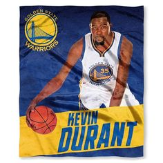 Warriors - Kevin Durant OFFICIAL National Basketball Association, Players High Definition Silk Touch Throw by The Northwest Company Baseball Playoffs, Basketball Scoreboard, Basketball Uniforms, Basketball Quotes, Women's Basketball, Nba Kevin Durant, Durant Nba, Silk Touch, Sports Wallpapers
