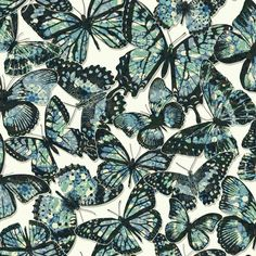 "Urban Chic Jeweled Monarch 33' x 20.5"" Wildlife Roll Wallpaper"