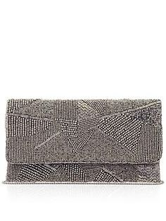 Love the monochromatic texture on this clutch