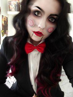 Creepy Jigsaw Make-up Cosplay by KikiMJ.deviantart.com on @deviantART