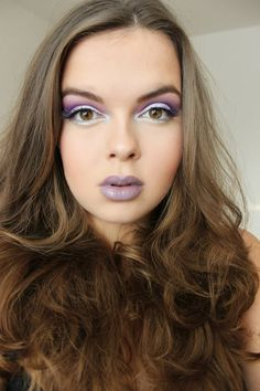 Purple makeup using Chinchilla by LimeCrime