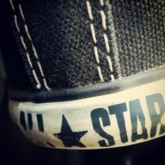 love how there all scuffed up and the letters are starting to peel like mine! Star Art, Converse Shoes, Chuck Taylors, All Star, Stars, June, Letters, Boys, Inspiration