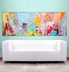 Large Abstract Painting Original canvas textured by AnaGonzalezArt