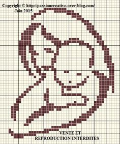 Cross-Stitch Pattern I could see myself doing. I really love it - and so simple. Cross Stitch Rose, Cross Stitch Baby, Cross Stitch Charts, Cross Stitch Patterns, Bobble Crochet, Bobble Stitch, Filet Crochet, Crochet Stitches Patterns, Embroidery Patterns