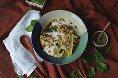 Fare Isle | Lemony Sweet Pea Brown Rice Risotto with Roasted Cauliflower & Celery - Vegan + Gluten Free