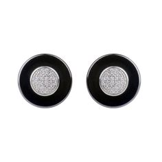 Goman Earrings Black Ceramic #LuxenterJoyas #LuxenterSilver