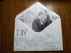 The Bloated Bride: DIY Personalized Envelope Liners