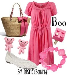 Disney Bound - Boo ~ Monsters Inc. Disney Fun, Disney Girls, Disney Style, Disney Bound Outfits, Disney Dresses, Disney Clothes, Disney Inspired Fashion, Disney Fashion, Film Fashion