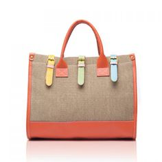 Fashion and Casual Color Block and Buckle Design Women's Handbag, KHAKI in Tote Bags | DressLily.com