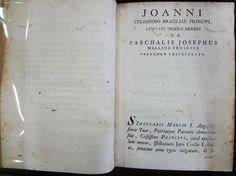 MELO, Pascoal José de, 1738-1798. Institutionum júris civilis lusitani: liber 1. Olisipone: Ex Typographia Regalis Academiae, s.d. Detalhe: interior da obra