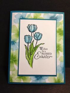 Blessed Easter and Watercolor Wonder Easter Card Stampin' Up! Rubber Stamping Handmade cards