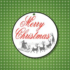 Set of 25  Merry Christmas  Christmas Tags by FoxyCouturePaperCuts, $10.00